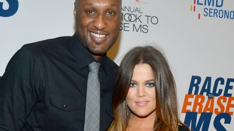 """Lamar Odom and Khloe Kardashian <a href=""""http://www.cnn.com/2015/10/14/entertainment/lamar-odom-khloe-kardashian-feat/"""">married after a brief courtship in 2009</a>, but Kardashian filed for divorce in 2013. The divorce hasn't gone through, and after <a href=""""http://www.cnn.com/2015/10/20/us/lamar-odom-condition/"""">Odom's hospitalization</a>, <a href=""""http://www.cnn.com/2015/10/21/entertainment/khloe-kardashian-lamar-odom-feat/"""">Kardashian has put it on hold</a>. Here are other couples who have stayed together after breakups -- at least for a time:"""