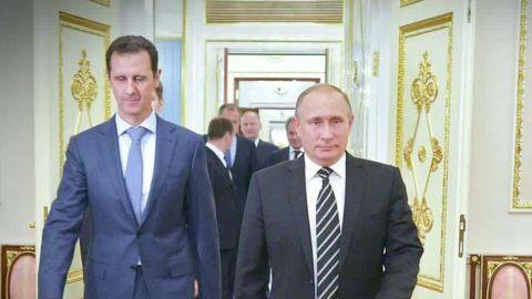 Syrian President Bashar al-Assad visits Russian President Vladimir Putin in October.