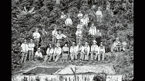Coffee workers in Guatemala pose for a photo in 2006.