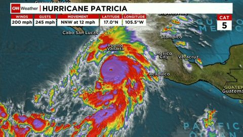 Hurricane Patricia is the strongest storm ever recorded by the U.S. National Hurricane Center.