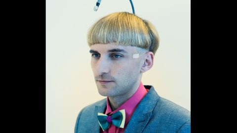 David Vintiner and Gemma Fletcher recently photographed people interested in the relationship between futurism, technology and the human body. They met artist and self-described human cyborg Neil Harbisson, who had an antenna surgically implanted in his skull in 2004. Based in Catalonia, Spain, Harbisson says the antenna allows him to hear colors. For example, he said, blue sounds like the musical note C, or C sharp. Click through the gallery for more images of people associated with future tech and the human body.