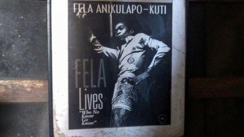 A poster celebrating Fela Kuti.