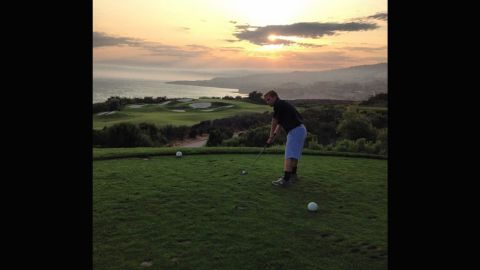 """The varied landscape behind this course is the perfect base for a sunset. <a href=""""https://instagram.com/ayojsnow/"""" target=""""_blank"""" target=""""_blank"""">@ayojsnow</a> was clearly delighted with his surroundings: """"What a round!"""" he wrote."""