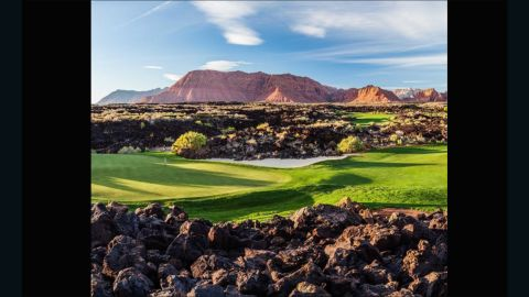 """This shot sent to us by <a href=""""https://instagram.com/brianoar/"""" target=""""_blank"""" target=""""_blank"""">@brianoar</a> -- owner of <a href=""""https://instagram.com/stgeorgeutahgolf/"""" target=""""_blank"""" target=""""_blank"""">@stgeorgeutahgolf</a> and <a href=""""https://www.stgeorgeutahgolf.com/"""" target=""""_blank"""" target=""""_blank"""">www.stgeorgeutahgolf.com</a> -- is of Entrada at Snow Canyon. He has been a huge golf fan since the age of eight when he used to play with his Grandma. """"I fell in love with the look of morning and evening light and 'golden hours' on golf courses,"""" he says. """"They are living, breathing pieces of art."""""""