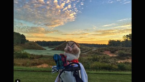"""So good we had to pick it twice. The palette of colors visible in the sky makes this a worthy location for <a href=""""https://instagram.com/wickedgolfer59/"""" target=""""_blank"""" target=""""_blank"""">@wickedgolfer59</a> to play a round of dawn golf. Although somebody in the foreground clearly isn't too impressed."""