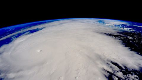 """Hurricane Patricia approaches the Pacific coast of Mexico in this photo that astronaut Scott Kelly <a href=""""https://twitter.com/StationCDRKelly/status/657618739492474880"""" target=""""_blank"""" target=""""_blank"""">tweeted</a> from the International Space Station on Friday, October 23. Patricia is the strongest hurricane ever recorded at sea, with sustained winds of 200 mph."""