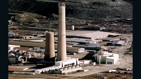 A smelter, in East Helena, Mt.,seen in a 2001 photo, was shut down and became a Superfund site.