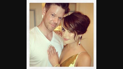 """Bailey posted <a href=""""https://instagram.com/p/nof7xrvhkH/?taken-by=byjakebailey"""" target=""""_blank"""" target=""""_blank"""">this photo on Instagram with actress and singer Lea Michele</a> after doing her makeup for the 2014 Met Ball."""