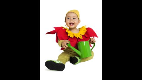 """<a href=""""http://www.realsimple.com/holidays-entertaining/holidays/halloween/last-minute-halloween-costume-ideas"""" target=""""_blank"""" target=""""_blank"""">Real Simple</a> came up with last-minute costume ideas for kids, like this easy flower getup. <a href=""""http://www.cnn.com/2013/10/31/living/real-simple-halloween-costumes/index.html"""">Read more ideas here</a>."""