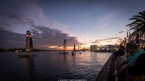 Six teams -- Emirates Team New Zealand, ORACLE TEAM USA, Land Rover BAR, Artemis Racing, SoftBank Team Japan and Groupama Team France -- took part in the warmup for the main event in Bermuda in 2017.