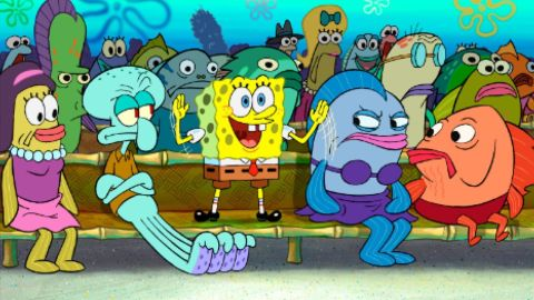 """<strong>""""The SpongeBob SquarePants Movie""""</strong>: The animated film featured the popular character trying to track down King Neptune's stolen crown. <strong>(Netflix) </strong>"""