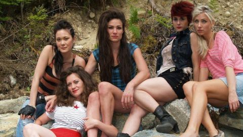 """<strong>""""Run Hide Die""""</strong>: Five young women on a weekend getaway get more than they bargained for in this horror flick. <strong>(Hulu) </strong>"""