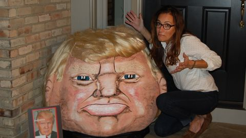 """Meet <a href=""""http://ireport.cnn.com/docs/DOC-1278947"""">Donald Trumpkin</a>, a giant pumpkin that looks a bit like GOP presidential candidate Donald Trump. The creator, Jeanette Paras, has been taking celebrities and noteworthy people and making them into <a href=""""https://www.facebook.com/Paras-Pumpkins-153925814649200/"""" target=""""_blank"""" target=""""_blank"""">caricatures on pumpkins</a> for more than 25 years."""