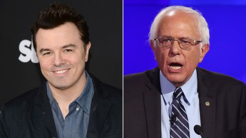 """""""Family Guy"""" creator Seth MacFarlane is a Sanders supporter. He introduced the Vermont senator at a rally in October, <a href=""""https://www.youtube.com/watch?v=EiPf3dz6ljc"""" target=""""_blank"""" target=""""_blank"""">telling the crowd</a>, """"He's the only candidate on either side who truly seems to grasp the magnitude of the catastrophe (of climate change)."""""""