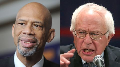 """Basketball superstar Kareem Abdul-Jabbar wrote an op-ed in <a href=""""https://www.washingtonpost.com/posteverything/wp/2015/09/02/kareem-abdul-jabbar-this-is-the-difference-between-donald-trump-and-bernie-sanders/"""" target=""""_blank"""" target=""""_blank"""">The Washington Post</a> slamming GOP candidate Donald Trump and praising Sanders for how they've handled their campaigns.<br /><br />He wrote that Sanders is """"a mature, thoughtful and intelligent man."""""""