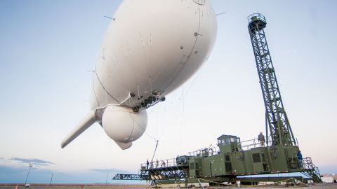 At approximately 12:20 pm EDT today, a Joint Land Attack Cruise Missile Defense Elevated Netted Sensor System (JLENS) surveillance system aerostat detached from its mooring station in Aberdeen Proving Grounds, Maryland, and is currently located approximately northeast of Washington, D.C., over Pennsylvania.  Two F-16 Fighter jets from Atlantic City Air National Guard Base are monitoring the JLENS aerostat, which is holding at approximately 16,000 feet.  NORAD officials are working closely with the FAA to ensure air traffic safefy, as well as with our other interagency partners to address the safe recovery of the aerostat.  More details on this event will be forthcoming.