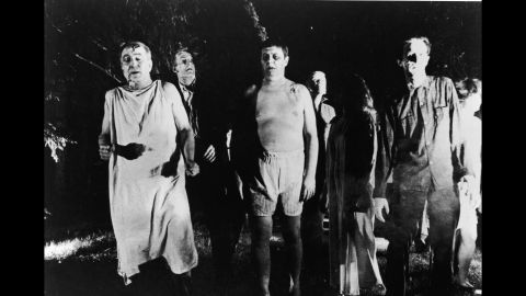 """George Romero's 1968 film """"Night of the Living Dead"""" was made for just over $100,000 and grossed more than $30 million worldwide. It also invented the modern zombie movie, with brain-eating undead ghouls threatening the human population."""