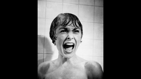"""The gripping """"Psycho"""" (1960) may have been the closest director Alfred Hitchcock came to pure horror. The film's shower scene, starring Janet Leigh, still has the power to shock, and motel manager Norman Bates (Anthony Perkins) remains one of cinema's creepiest villains."""