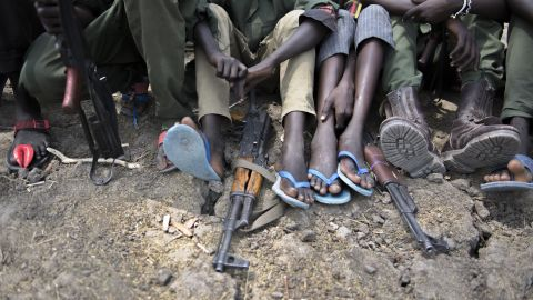 """The African Union said the use of child soldiers had been """"pervasive"""" in the South Sudan conflict."""