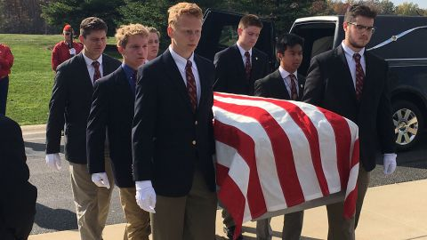 University of Detroit Jesuit High School students have been trained to be pallbearers for homeless veterans.