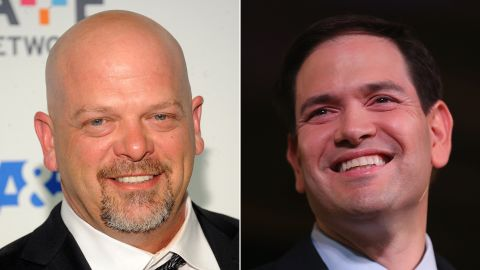 """""""Pawn Stars"""" star Rick Harrison told CNN's Chris Moody that he <a href=""""http://www.cnn.com/2015/10/30/politics/pawn-stars-rick-harrison-marco-rubio/index.html"""">endorsed</a> Republican presidential candidate Marco Rubio, but the decision could cost him. He said  he was """"deeply impressed"""" with Rubio when he first met him, but that as a celebrity, getting political does worry him """"to a degree."""""""