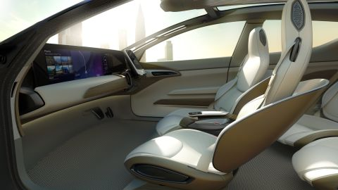 When the car is doing the driving, the seats turn towards each other to make conversation easier.
