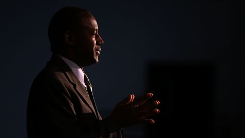 Republican presidential candidate Ben Carson speaks during a Distinguished Speakers Series event at Colorado Christian University on October 29, 2015 in Lakewood, Colorado.