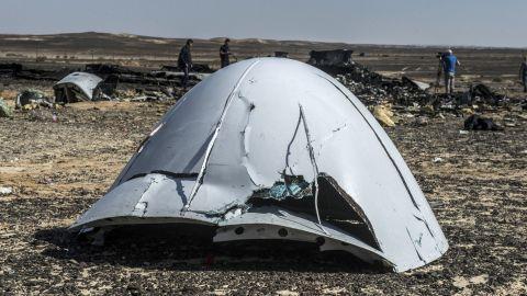 Debris at the crash site on November 1.