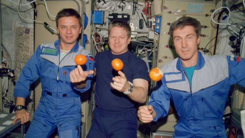 Two Russian cosmonauts and one American astronaut docked for Expedition 1 to the ISS on November 2, 2000.