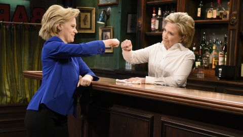 """Actress Kate McKinnon recently caught the notice of the political and entertainment worlds with her parody of Hillary Clinton on """"Saturday Night Live."""" The two even appeared together in an October sketch. Click through to see the storied history of """"SNL"""" and political parody."""