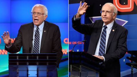"""Larry David may have been <a href=""""http://www.cnn.com/2015/10/18/entertainment/larry-david-bernie-sanders-snl-feat/"""" target=""""_blank"""">born</a> to play Bernie Sanders. The """"Curb Your Enthusiasm"""" star played the presidential candidate in a skit that was a parody of the CNN Democratic debate. David received favorable reviews of his depiction of the presidential candidate."""