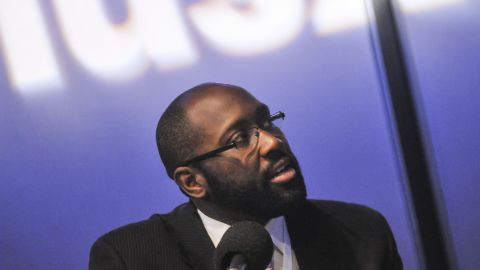 """Marlon Marshall speaks during """"The Affordable Care Act: An Urban View Roundtable"""" moderated by Joe Madison at SiriusXM Studio on March 13, 2014 in Washington, D.C."""