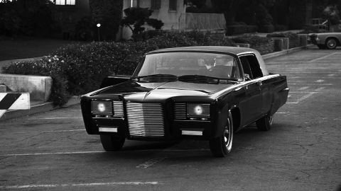 """Much of the work on the Green Hornet's vehicle was done by Barris rival Dean Jeffries, who remade a 1966 Chrysler Imperial into the """"Black Beauty.""""<a href=""""http://www.barris.com/carsgallery/tvmovie/greenhornet.php"""" target=""""_blank"""" target=""""_blank""""> According to Barris' website</a>, however, Barris added some touches, including the grille and headlights."""