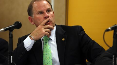 """Tim Wolfe, president of the University of Missouri, <a href=""""http://www.cnn.com/2015/11/09/us/missouri-football-players-protest-president-resigns/"""" target=""""_blank"""">resigned from his post </a>on November 9, 2015, amid a controversy regarding race relations at the school. Wolfe and the rest of the school's administration had been accused of taking little to no action after several racial incidents on campus. A day before the resignation, black players on the school's football team said they would essentially <a href=""""http://www.cnn.com/2015/11/08/us/missouri-football-players-protest/"""" target=""""_blank"""">go on strike until Wolfe resigned</a> or was fired."""