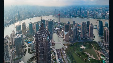 """An artist's impression of how the Chinese city of Shanghai could look if temperatures rise by just two degrees Celsius. The following images show were provided by <a href=""""http://www.climatecentral.org/"""" target=""""_blank"""" target=""""_blank"""">Climate Central</a> as part of report released November 8, 2015."""