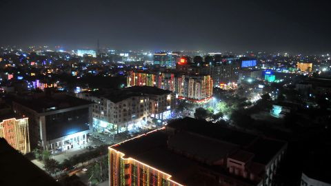The city of Indore, India, is soaked in light and celebration ahead of Diwali on November 10.