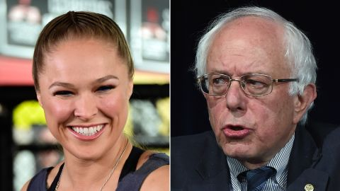 """UFC champion Ronda Rousey endorsed Sanders for president.<br /><br />""""I'm voting for Bernie Sanders, because he doesn't take any corporate money,"""" <a href=""""http://www.cnn.com/2015/11/10/politics/bernie-sanders-ronda-rousey-endorsement/"""" target=""""_blank"""">Rousey told Maxim magazine.</a> """"I don't think politicians should be allowed to take money for their campaigns from outside interests."""""""