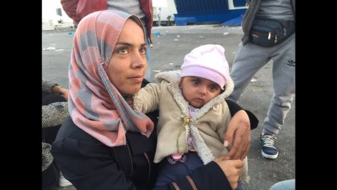 Tens of thousands of migrants have arrived on the Greek island of Lesbos in recent months. In early November a CNN team met little Meryem, who was hit by shrapnel from a barrel bomb in the Idlib province of Syria. The piece of shrapnel very nearly struck her heart, says her mother Amroon who was also hit in the same attack. It tore through her left hand, leaving it with little range of movement.