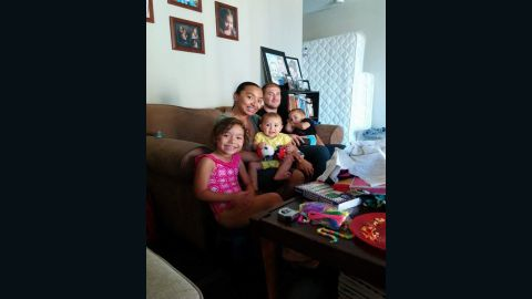 Daniel Martinez-Vlasoff and Natalie pose with their three kids in their new home in Los Angeles, California, in 2014. The couple has welcomed a fourth child in November.