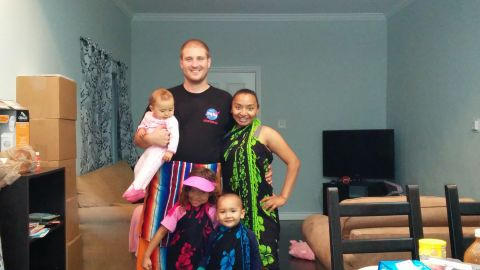 Shortly after moving into their Los Angeles home, the kids wanted to break the house in while wearing Hawaiian sarongs, Natalie says.