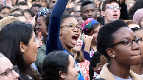 A rally on November 9, 2015, to demand that Yale University become more inclusive to all students in New Haven, Conn.
