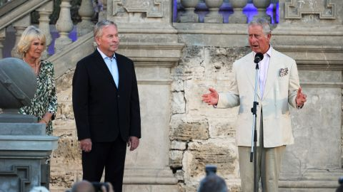 Britain's Prince Charles expresses solidarity with France at a birthday barbecue in his honor near Perth, Australia, on November 14.
