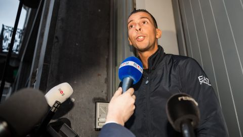 Salah Abdeslam's brother Mohammed speaks to the media at his house in Molenbeek on November 16. Mohamed Abdeslam was released by police after being detained over the weekend.