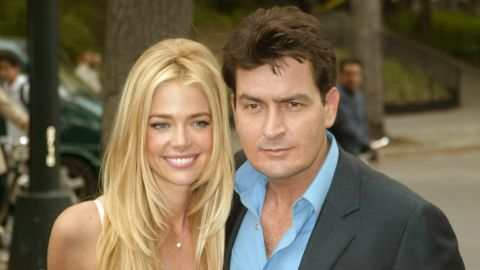 """In 2002, Sheen married Richards. The marriage produced two daughters but was rocky; Richards filed a restraining order against him in 2006 and filed for divorce while pregnant with their second child. Sheen later tried to block the appearance of their children on Richards' reality show and insulted her in the media, a habit<a href=""""http://www.people.com/article/charlie-sheen-denise-richards-twitter-rant"""" target=""""_blank"""" target=""""_blank""""> he's continued to the present day</a>."""