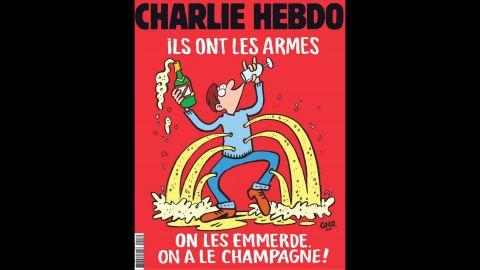Charlie Hebdo's cover responded to the November 2015 terror attack in Paris.
