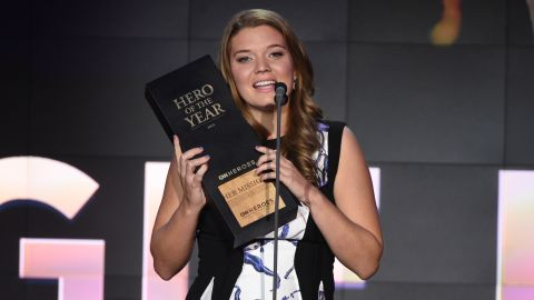 """New Jersey's Maggie Doyne -- who helps women and children in Nepal -- was named CNN's 2015 Hero of the Year November 17 at """"CNN Heroes: An All-Star Tribute"""" in New York."""