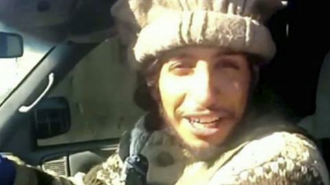This undated image taken from a Militant Website on Monday, Nov.16, 2015, shows Belgian Abdelhamid Abaaoud. A senior police official said on Wednesday, Nov. 18, 2015, that he believed the Belgian Islamic State militant was insidean apartment in the Paris suburb of Saint-Denis with other heavily armed people. A French official said Mondaythat Abdelhamid Abaaoud is the suspected mastermind of the Paris attacks was also linked to thwarted train and church attacks. (Militant video via AP)