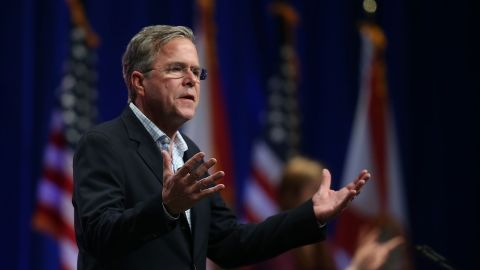 Republican presidential candidate former Florida Gov. Jeb Bush speaks during the Sunshine Summit conference being held at the Rosen Shingle Creek on November 13, 2015 in Orlando, Florida.