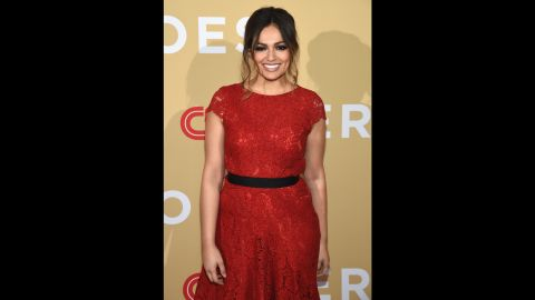 """Video blogger Bethany Mota introduced one of the three """"Young Wonders"""" honored at the event."""