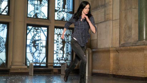 "Krysten Ritter stars as ""Jessica Jones"" in the Netflix series based on Marvel Comics' ""Alias,"" about a semi-retired superhero-turned-private eye."